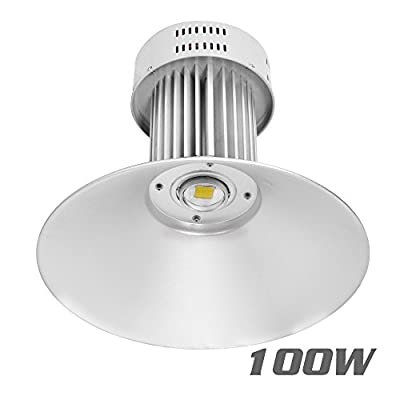VidaGoods 100W Watt LED High Bay Light Bright White Lamp Lighting Fixture Factory Industry Warehouse