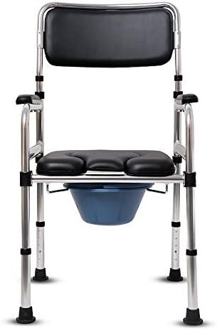 Cqq Badestuhl Alte Mann-Toilette/Hemiplegic-Rehabilitations-Toiletten-Stuhl-Aluminiumlegierung rostet Nicht Faltbare Armlehnen-höhenverstellbarer Toilettenstuhl
