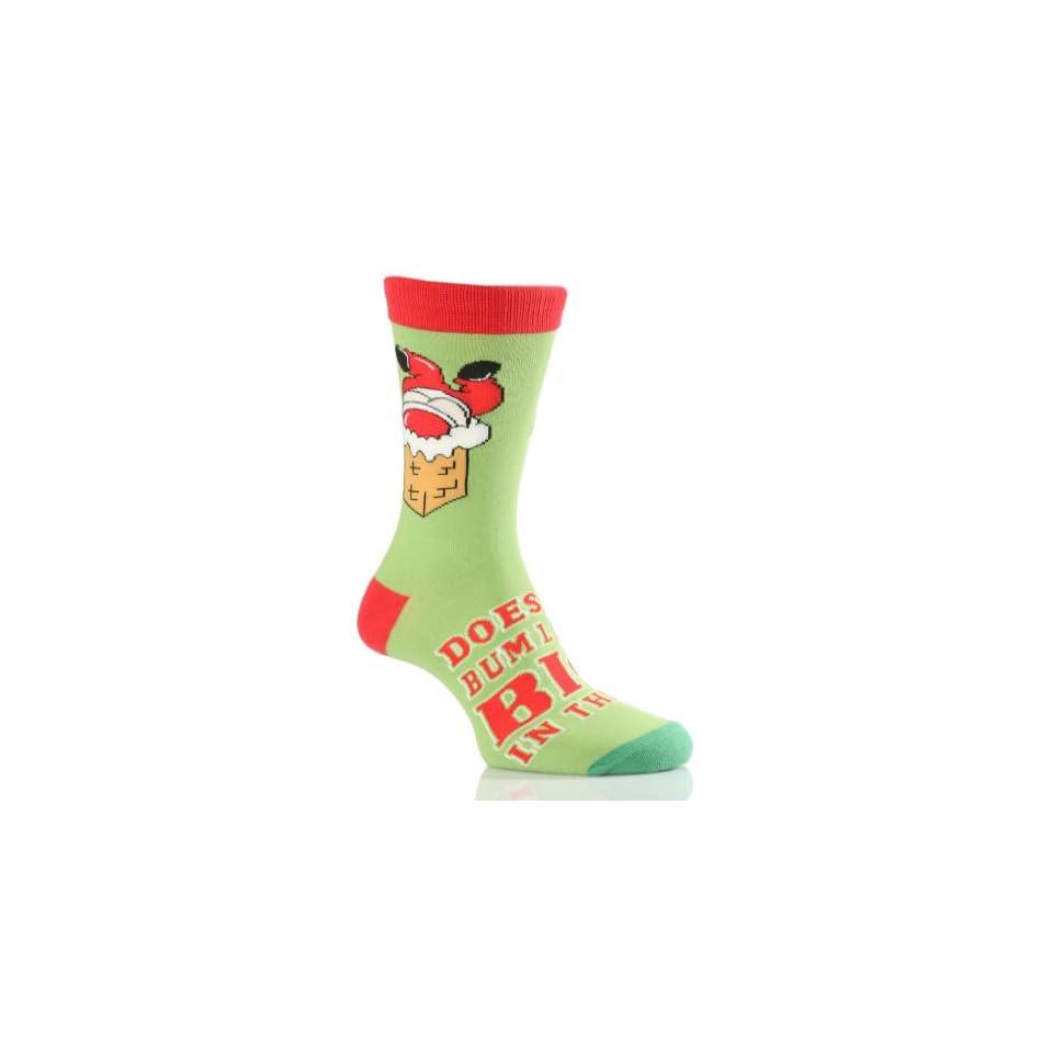 SockShop Mens 1 Pair Christmas Does My Bum Look Big in This Socks 7 12 Mens Green