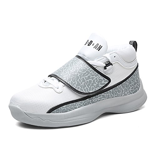 POSEDO Zapatos Deportivos De Primavera Y Verano Para Hombres Zapatos De Encaje Mágicos Con Hebilla Que Corren Rápido Caminando Suela De Amortiguación Ultra Ligera,Grey-UK9.5(43EUR) UK9.5(43EUR)|Grey