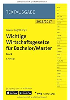wichtige wirtschaftsgesetze fr bachelormaster band 2 neben und verfahrensrecht textausgabe