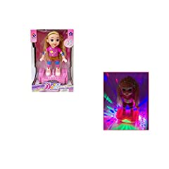 Lovely Cute Hoverboard Riding Doll with Colorful LED Light & Music Playing