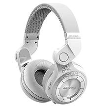 Kiwitata Bluedio T2 Bluetooth Headphones Wireless Stereo Headset Folding Over Ear Headphones Built-in Mic Noise Cancelling (White)