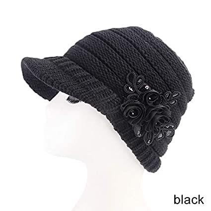 70c3899ca5be24 Image Unavailable. Image not available for. Color: MAGA 1 Women Winter Warm  Crochet Peaked Beanie Cap Knitted Skull Cap Beret Hat New