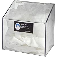 Horizon 5120-W Heavy Duty Plastic Hair Net/Beard Cover/Shoe/Arm Sleeve Cover Dispenser with Clear Lid, 12 Width x 14 Height x 8 Depth, White by Horizon Manufacturing