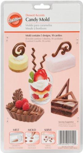 Wilton 2115-2102 Candy Mold - Dessert Accents, 10 Cavities/5-Designs