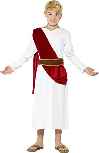 Costumes For Children Roman (Smiffy's Children's Roman Boy Costume,  Robe, Belt and Headpiece, Ages 10-12, Size: Large, Color: White,)