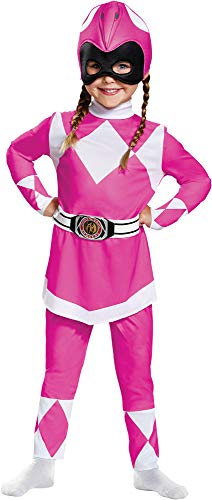 Disguise Pink Power Ranger Movie Theme Fancy Dress Toddler Halloween Costume, Toddler -