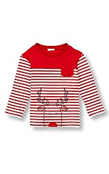 Le Top Little Boys' Striped Rudolph Reindeer Christmas Shirt, 2T