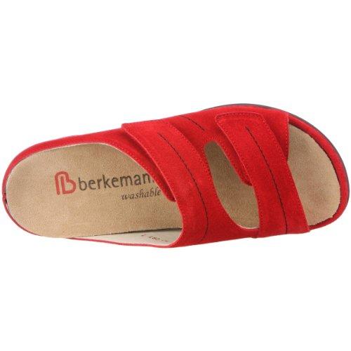 Berkemann in donna washable pelle Sandali Melbourne scamosciata Fedora Rosso 01080 rxO8r