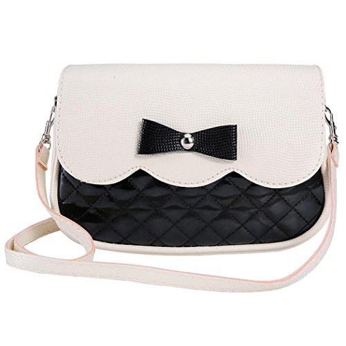 Price comparison product image Bowknot Crossbody Bag, Hemlock Girl Shoulder Bag Tote Purse Handbag (Black)