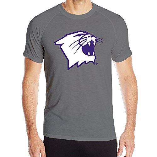 Men Northwestern Wildcats Football Partial Logo Quick Dry Athletic T Shirts