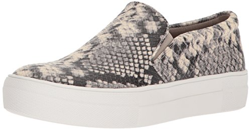 Steve Madden Women's Gills Sneaker, Natural Snake, 8.5 M US (Snake Footwear Natural)