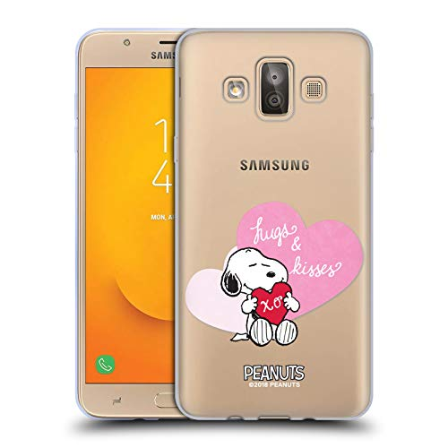 Official Peanuts Snoopy Hugs and Kisses Sealed with A Kiss Soft Gel Case for Samsung Galaxy J7 Duo ()