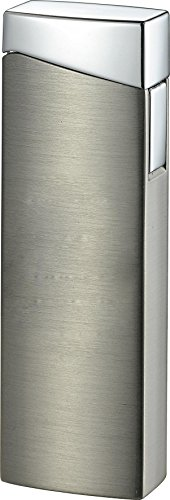 Visol Camino Satin Gun Metal Wind-Resistant Torch Flame Lighter
