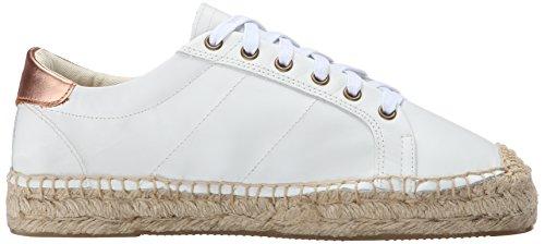 Soludos Kvinners Plattform Tennis Mote Sneaker Hvit