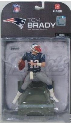 Tom Brady #12 New England Patriots Clean Uniform Chase Alternate Variant McFarlane NFL 2008 Wave 2 Action (Nfl 2008 Wave)