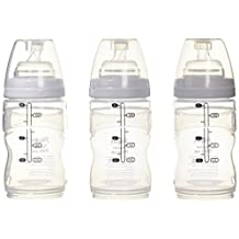 Playtex Baby BPA-Free Nurser Baby Bottles with Disposable Drop-Ins Bottle Liners, 4 Ounce, Pack of 3 Baby Bottles
