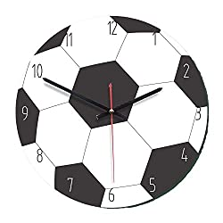 Smile-life Cartoon Football Basketball Golf Shape Wall Clock Home Room Decor Creative Clock Child Kids Girls Gifts,Style 1