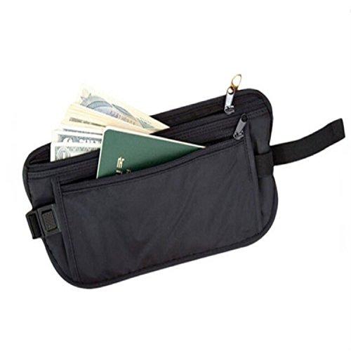 nero con cinghia documenti beige e sottile uomo donna in porta tessuto Marsupio soldi relogabile invisibile da xqaSAwZ