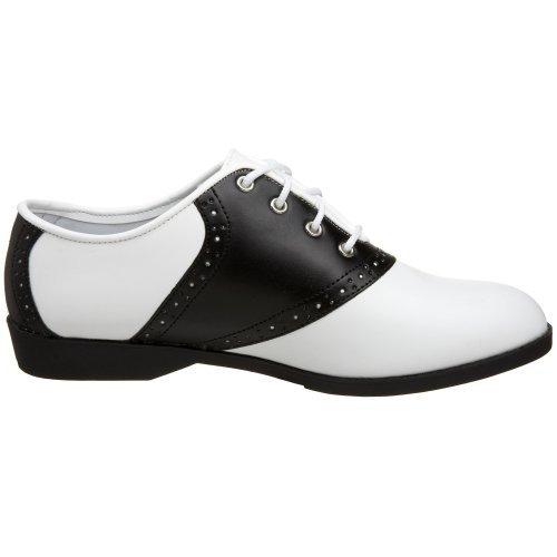 (Endless Road 50 Size 6, Black & White Ladies Saddle Shoes)