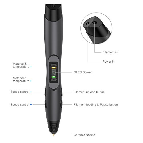 -[ 3D Printing Pen, Aerb Intelligent 3D Pen Compatible with PLA / ABS for Crafting, Art & Model