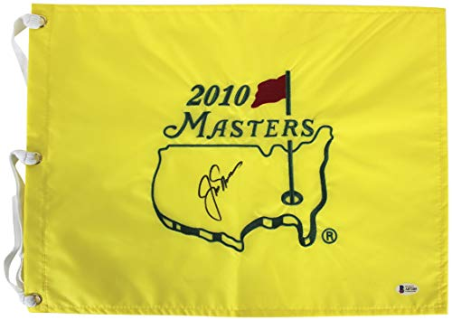 Jack Nicklaus Authentic Signed 2010 Masters Pin Flag Autographed BAS #A87205 ()