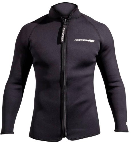 NeoSport 3-mm XSPAN Jacket (Black, Medium) - Diving Jacket for Water Sports, Diving & ()