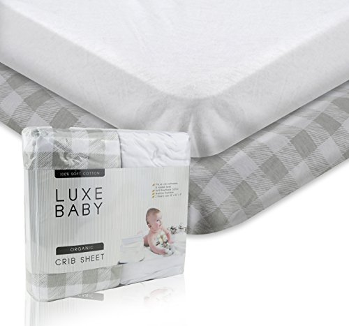 - Luxury Fitted Crib Sheet Set. Luxe Baby Crib Sheets Girl and Boy. Exclusive Design Crib Sheets in Ultra Soft Cotton, Crib Sheets Set Fits All Baby Crib Standard Mattresses