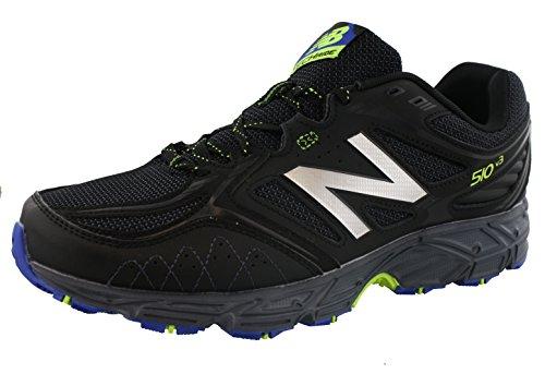New Balance Men's 510v3 Trail Running Shoe, Black/Pacific Toxic, 12 4E US