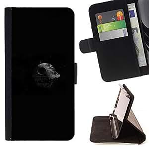 Momo Phone Case / Flip Funda de Cuero Case Cover - Estrella de la Muerte Espacio;;;;;;;; - HTC One M8