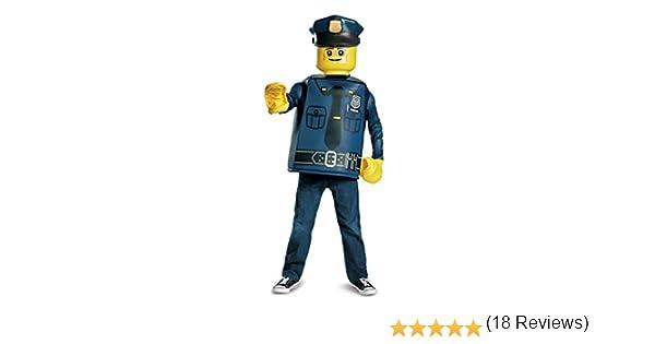 LEGO 18471 K oficial de policía – Disfraz (tamaño mediano, 7 – 8 ...