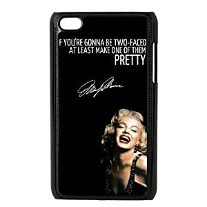 Custom Cover Case with Hard Shell Protection for Ipod Touch 4 case with Marilyn Monroe Quote lxa#903134
