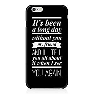 Wiz Khalifa See You Again Lyrics Paul Walker Black Hard Plastic Snap-On Case Cover For iPhone 6 Plus