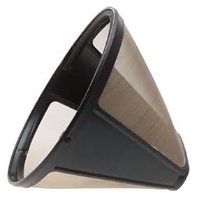 KRUPS F0494210 Gold Tone Permanent Filter, Black