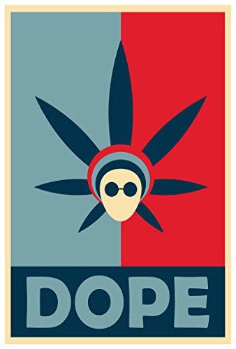 Dope Obama Poster Wall Print|Man Cave Marijuana Reform Home