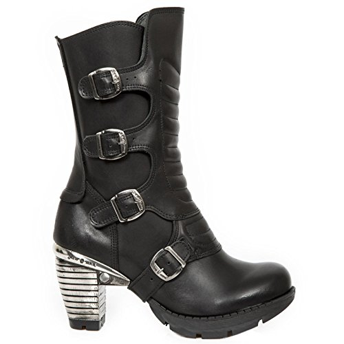 New Rock Womens M.TR003X-S2 Leather Boots Black
