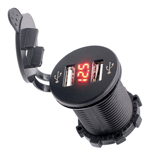 BlueFire Waterproof Motorcycle Charger Voltmeter