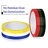 HULISEN 12 Piece 1/8 inch 3mm Width Colorful