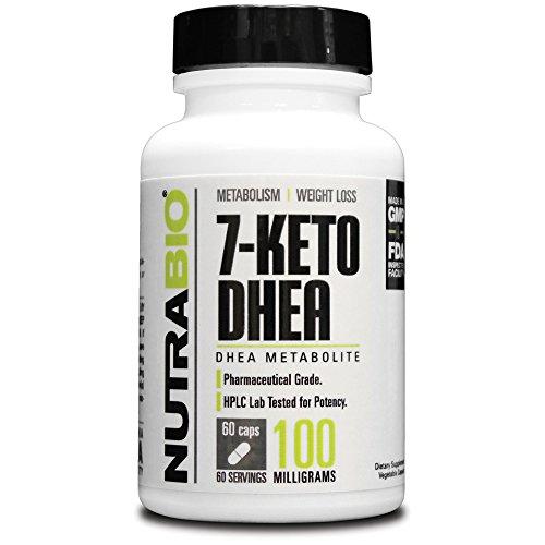 NutraBio 7-Keto DHEA 100mg - 60 Capsules végétales
