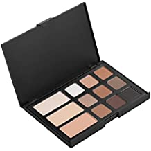 Pure Vie Professional 12 Colors Eyeshadow Eyebrow Powder Palette Makeup Contouring Kit #1 for Salon and Daily Use