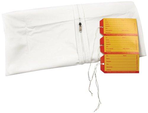 PDC Healthcare 55700-00-MBC 5 mil Vinyl Straight Zipper Adult Cadaver Bag, 3 I.D. Tags, 36'' x 90'' Size, White (Case of 10)