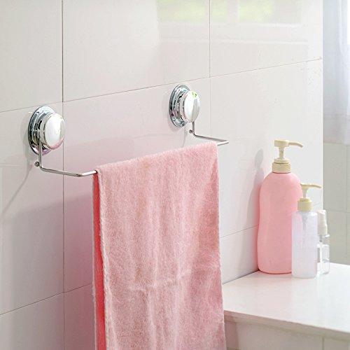 Hlluya La Ventosa toallero baño Toalla de Acero Inoxidable Varilla pequeña Toalla de baño Colgador de Toallas de baño de una Sola Palanca,Acero Inoxidable ...
