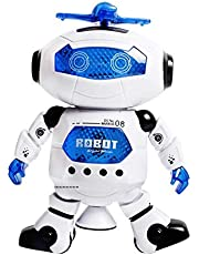 360-Degree Electric Robot Dancing Astronauts Rotating Light Music Hyun Dancers Children's Toys Game Gifts
