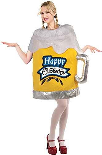UHC Women's Happy Octoberfest Beer Mug Comical Theme Adult Halloween Costume, OS (6-14) -