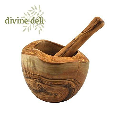 Devine Deli Rustic Olive Wood Pestle and Mortar , 5.5