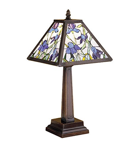 Iris Accent - Tiffany Style Stained Glass Light Mosaic Iris Accent Lamp