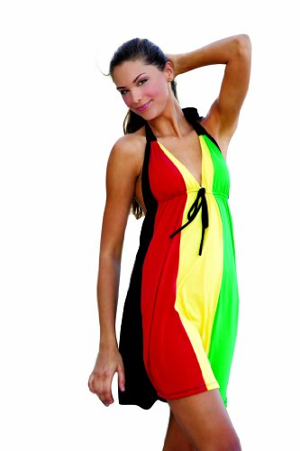Ingear Wome Halter Dress Rasta X-Large