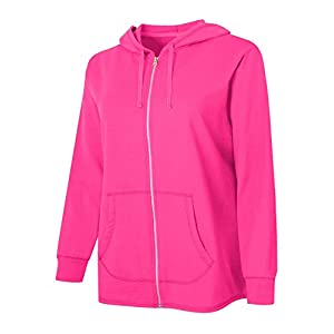Just My Size Womens French Terry Full-Zip Hoodie, 3X, Amaranth