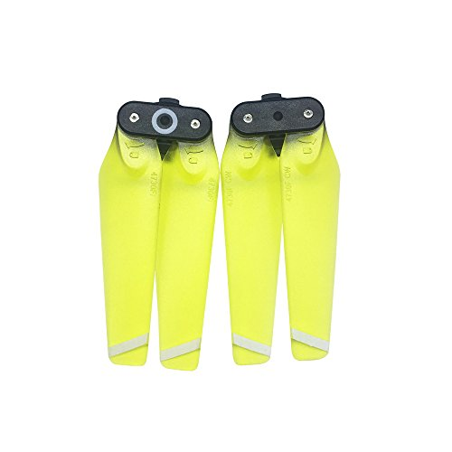 JPJ(TM)1Pcs Hot Fashion 4730F Propellers Quick-release Foldable Transparent Blades For DJI SPARK (Yellow) ()